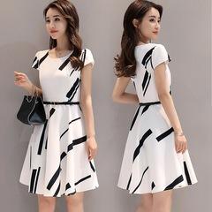 BLDS  2019 dress women elegant Short Sleeve Dresses long dress  dress office summer dress m white