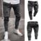 Hot sell Fashion Men's Holes Jeans pencil pants Trousers black l