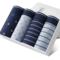 4Pcs Brand Nanjiren Boxer Mens Underwear Man 100%Cotton Breathable Boxer Sexy Fashion Underpants N9203 l
