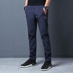 2019 Summer Season Sports Men's Casual Pants Pure Color Harem Pants Elastic Little Feet Trousers blue m