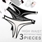 Women's Breathable Cotton Thong Panties Pack of 3 black+white+gray black M
