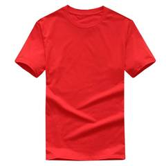 FE Multiple Solid color T Shirt Mens 100% cotton T-shirts Skateboard Tee Boy Skate Tops Red S Cotton