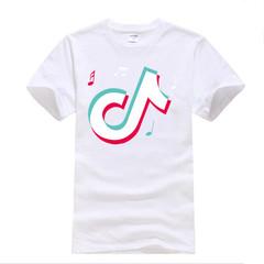 FE Fashion Men's Cotton Tik Tok T Shirt Men TikTok Short Videos Trill Tops Tees Funny T-shirt Male white s cotton