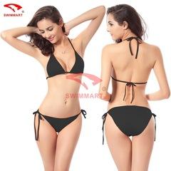 Womens Swimwear Sexy 11-colour Candy Classic Bikini Summer Beach Bathing Bikini Swimsuit FE12 black one size - good for S M L XL