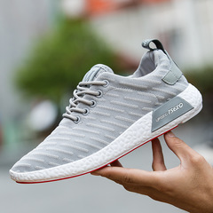Mens Shoes Man Casual Sneaker Male Shoes Match-all Men's Shoes Running Shoes Lazy Shoes grey 39