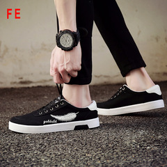 Mens Shoes Breathable Sneaker Man Student Shoes Canvas Men's Trainer Sports Male Casual Shoes black 39