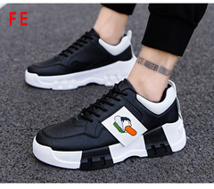 Men's Shoes Student Travel Sports Shoes Clunky Sneaker Man Running Shoes Casual Trainer black 39