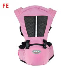 FE Summer Cool Adjustable Strap Hip Seat Soft Breathable Baby Sling Baby Carriers pink as picture
