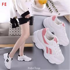 FE Students Color Mesh Sports Shoes Fashion Casual Sneaker with Lightweight Shoes Small White Shoes pink 35
