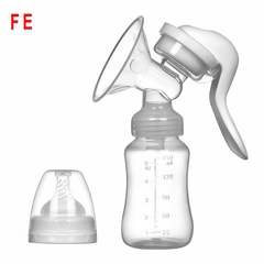 FE Manual Breast Pump Powerful Baby Nipple Suction Feeding Milk Bottles Breasts Pumps Bottle Sucking white as picture