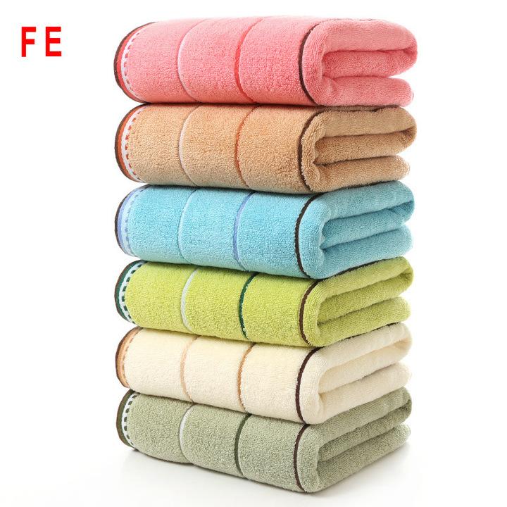 Large Towel Bath Towel Multicolor 6 Color Cotton Home Textile Bathroom Rags Washing Towel beige 70CM*140CM