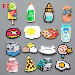 FE Cute Foods Acrylic Material Fridge Refrigerator Magnets Whiteboard Sticker Kids Gift random 6pcs/lot