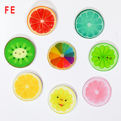 FE Cute Lemon Orange Fruit Acrylic Material Fridge Refrigerator Magnets Whiteboard Sticker Kids Gift random 3pcs/lot
