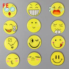 FE Cute Smiley Smile Face Acrylic Material Fridge Refrigerator Magnets Whiteboard Sticker Kids Gift random 6pcs/lot