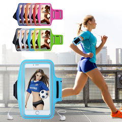 Sport Armband Case Phone Fashion Holder Smartphone Handbags Sling Running Gym Arm Band Fitness black 6 inches