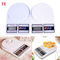 FE Precision Electronic Digital Kitchen Food Weight Scale Home Tool WL 10kg/1g white as picture