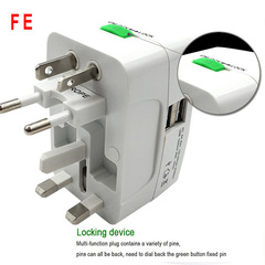 Power Socket Adapter International Travel Adapter Universal Travel Socket Converter EU UK US AU white No USB Port
