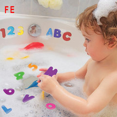 Baby Foam Stickers 26 Letters + 10 Numbers Baby Bath Tub Water Stickers Kids  Bath Shower Toys