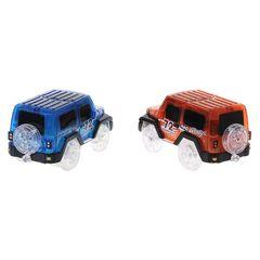 1PC LED Cars Night Luminous Magic Electronics Vehicle Flashing Lights Kids Educational Toy Gift red 9*4.5*4cm