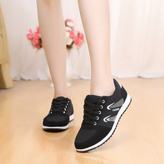 FE Hot Sale Round Head Flat Shoes Women's Fashion Trend Casual Sneaker with Sports Shoes black 36