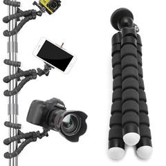 FE Flexible Tripod Stand Gorilla Mount Monopod Holder Octopus For GoPro Camera black 19*4*4cm