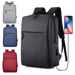 XiaoMi MI USB Charging Men's Backpacks  Women  Student School Bag Backpack Notebook Laptop Bags blue 17 Inches