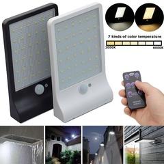 LED Solar Power Light Waterproof with Remote Control Solar Panel Street Light Lamp Garden Yard Wall Black with Remote Controller Solar Lights with 48 LEDs