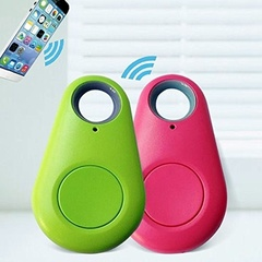 Smart Bluetooth Tracker GPS Locator Key Wallet Pet Dog Tracker Alarm Key red as picture