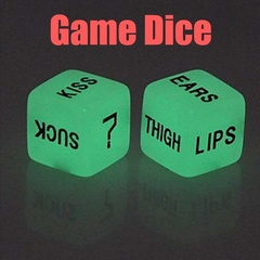 FE 1pair Creative Sculpture Noctilucent Funny Dice as picture