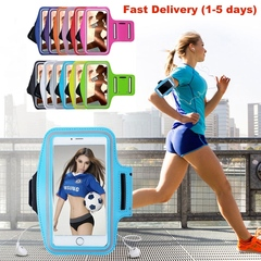 Sport Armband Case Phone Fashion Holder Smartphone Handbags Sling Running Gym Arm Band Fitness dark blue 6 inches