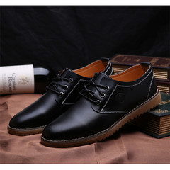 Plus Size Luxury Leather Business Dress Men's Shoes Oxford Bottom Men's Shoes British Style black 39 Genuine Leather