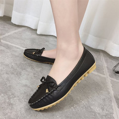 Large Size Woman Shoes Loafers Peas Shoes Female Flat Casual Driving Single Shoes Women black 35