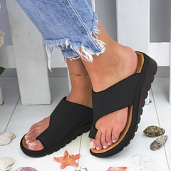 Large Size Women's Shoes Women's Sexy Sandals Solid Color Nice Sandals for Ladies black 35