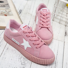 Plus Size Womens Shoes Spring Casual Shoes Breathable Canvas Sneaker with A Nice Star Mesh pink 41