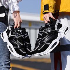 Plus Size Colorful Women's Shoes Nice Couple Shoes Mens Shoes Man Sneaker INS Dad Shoes black 35