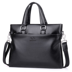 FE Mens Bags Luxury Design Leather Mens Shoulder Bag Classic Business Man Travel Bags Messenger black 44*37*3CM