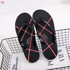 Men's Shoes Slippers Fashion Casual Sandals Men Tow Beach Shoes Open Toe Sandals and Shoes black-red 39