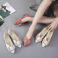 Women's Shoes Ladies Shoes Low Heel Flat Shoes Women's Office Work Shoes Fashion Women's Loafer white 35
