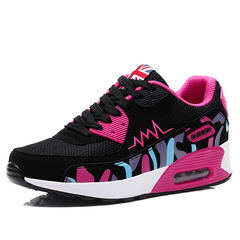 Women's Shoes Sport Sneakers Women Ladies Shoes Breathable Air Cushion Shoes Running Shoes Sneakers 956 black red 35