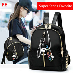 Womens Bags Backpack Womens Nylon Waterproof Backpack Oxford Cloth Ladies Bag black 26CM*25CM*12CM