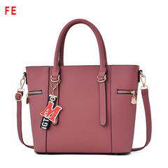 Womens Bags Fashion Large Capacity Handbag With Letter M Pendant Handbags for Ladies pink 30CM*14CM*27CM