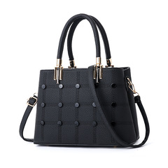 Womens Bags 2019 New Trend Women's Simple Casual Slung Shoulder Bag Handbags for Ladies black 28cm*13cm*20cm