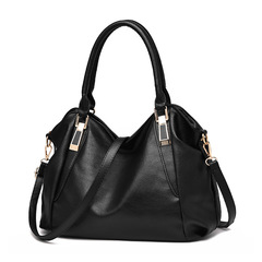 Womens Bags Large New European and American Style Diagonal Shoulder Bag Handbags for Ladies black 36CM*15CM*26CM
