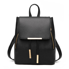 Womens Bags New Shoulder Bag College Wind Casual Backpack Trend Fashion Ladies Bag black 23CM*16CM*28CM