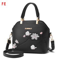 FE Womens Bag Beautiful Leather Ladies Shoulder Messenger Shell Bag Ladies Handbag black 23CM*12CM*19CM