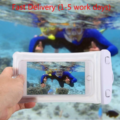 Waterproof Mobile Phone Case For Samsung PVC Sealed Underwater Cell Phone Swimming Pouch Cover black 203mm*106mm