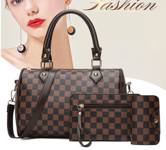 FE 3Pcs Per Set Fashion Womens Bags Handbag Cross Shoulder Bags Square model normal