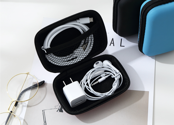 2EST Daily Charging cable package data cable storage box headphone bag mobile power box bag Pink normal