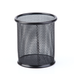 2EST Daily Multi-function pen holder round pen barrel storage box office stationery Black Round