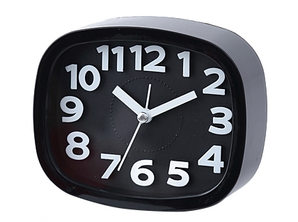 2EST Daily Silent alarm clock bed electronic clock simple clock small ornaments clock black normal
